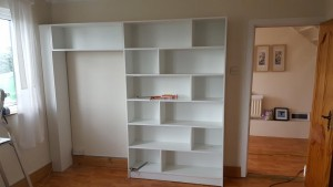 greystones shelving unit white