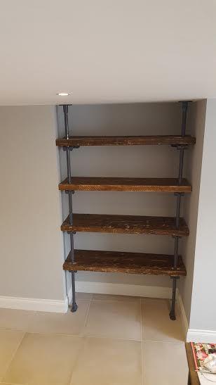 scaffold metal shelving