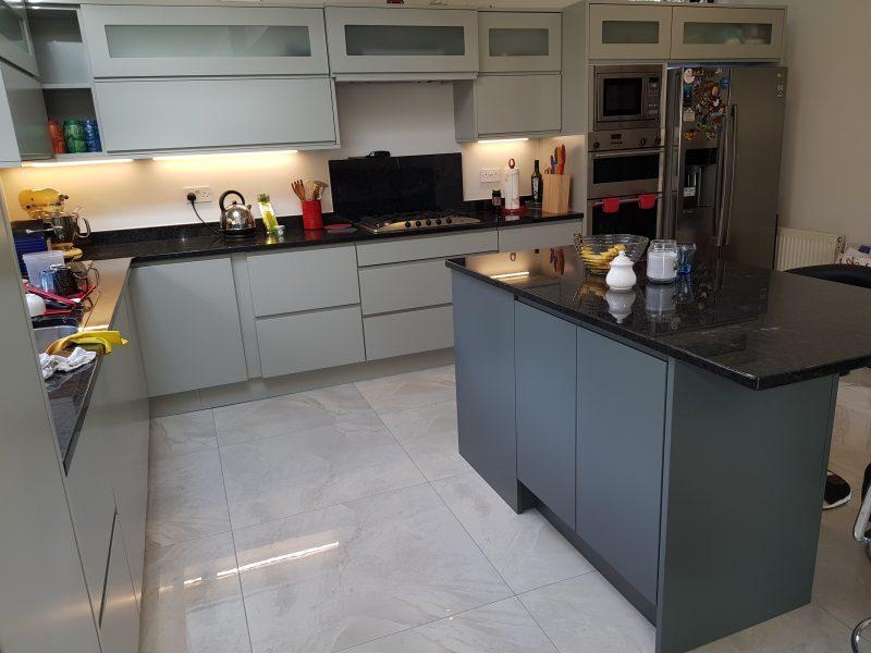 Painted Handleless Modern Kitchen Dublin Wicklow Ireland